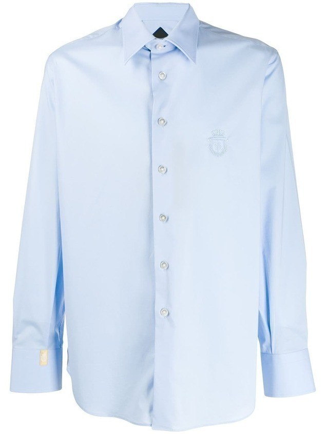 Billionaire classic embroidered shirt - Blue