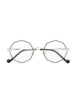 Liu Jo Kids octagon frame glasses - GOLD