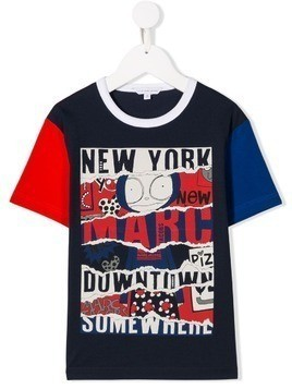 Little Marc Jacobs Mr Marc print T-shirt - Blue