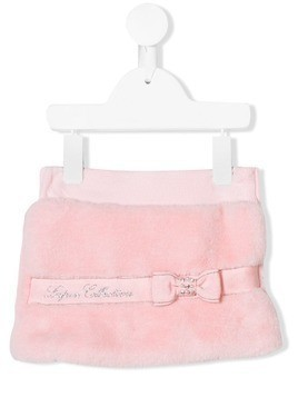 Lapin House bow embellished skirt - Pink & Purple