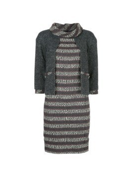 Chanel Vintage tweed layered dress - Green