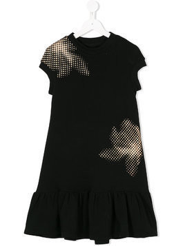 Ioana Ciolacu Kids contrast flared dress - Black