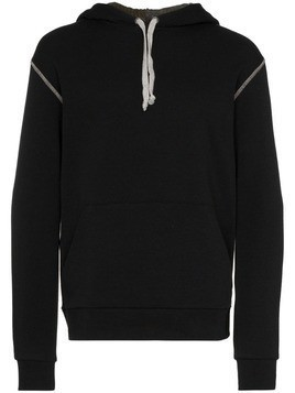 78 Stitches contrast-stitch hoodie - Black