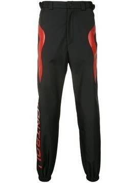 Kappa Kontroll structured tracksuit trousers - Black