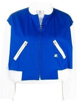 Courrèges Pre-Owned cut-out cropped jacket - Blue