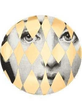 Fornasetti printed face plate - Gold