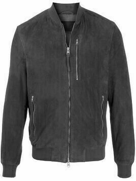 AllSaints stand-collar bomber jacket - Grey