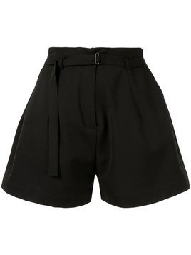 Isabel Benenato belted wide shorts - Black