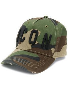 Dsquared2 Icon camouflage print baseball cap - Green
