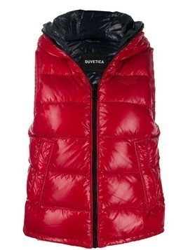 Duvetica quilted zip-up gilet - Red