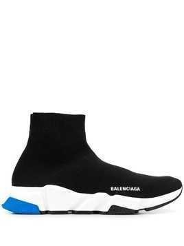 Balenciaga Speed knitted sock hi-top sneakers - Black