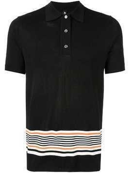 Astrid Andersen classic polo with stripes - Black