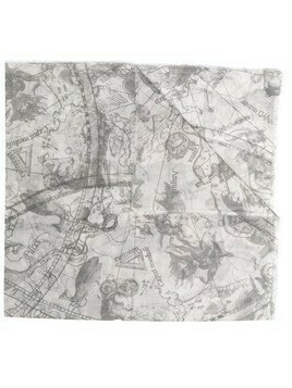 Faliero Sarti Astrology cotton scarf - Grey