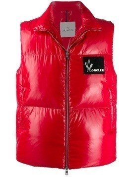 Moncler padded gilet - Red