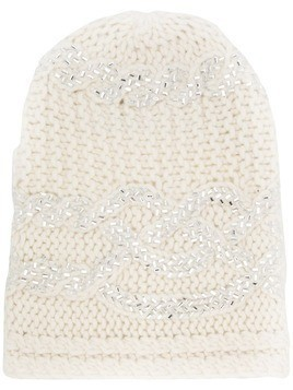 Ermanno Scervino knitted hat - White
