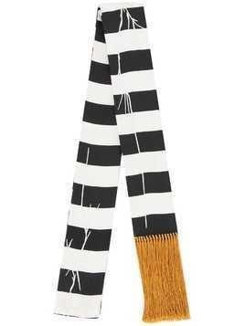 Haider Ackermann striped skinny scarf - Black