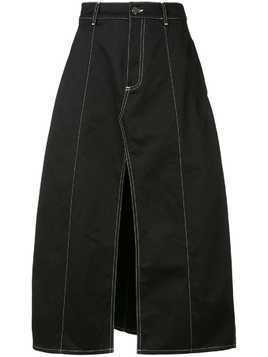 Georgia Alice Slouch midi skirt - Black
