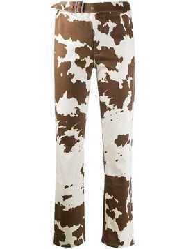 Miaou cow print trousers - Brown