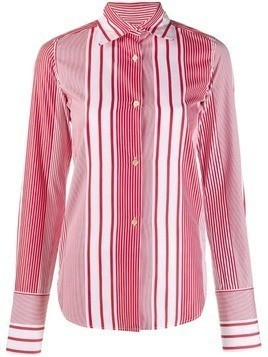 Romeo Gigli Pre-Owned 1990's striped slim shirt - White
