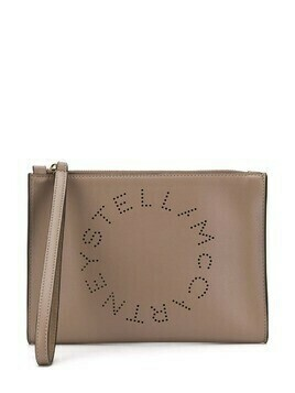 Stella McCartney Stella Logo clutch - Neutrals