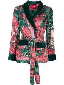 F.R.S For Restless Sleepers floral-print smoking jacket - Green