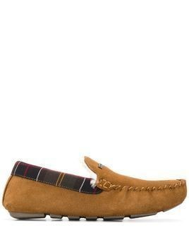 Barbour Monty check detail slippers - Brown