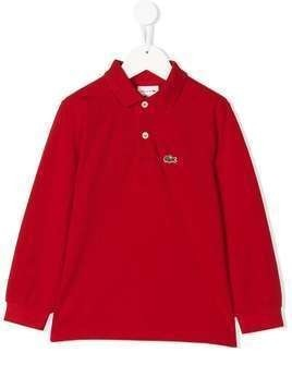 Lacoste Kids long sleeve polo shirt - Red