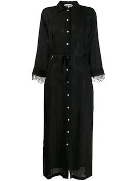 Giacobino bead trimmed dress - Black