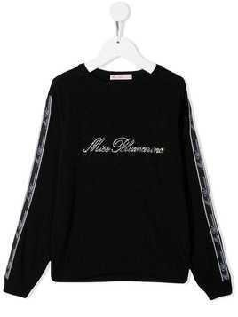 Miss Blumarine crystal embellished jumper - Black