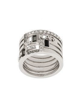 Karl Lagerfeld Boucle Faux Stack ring - Silver