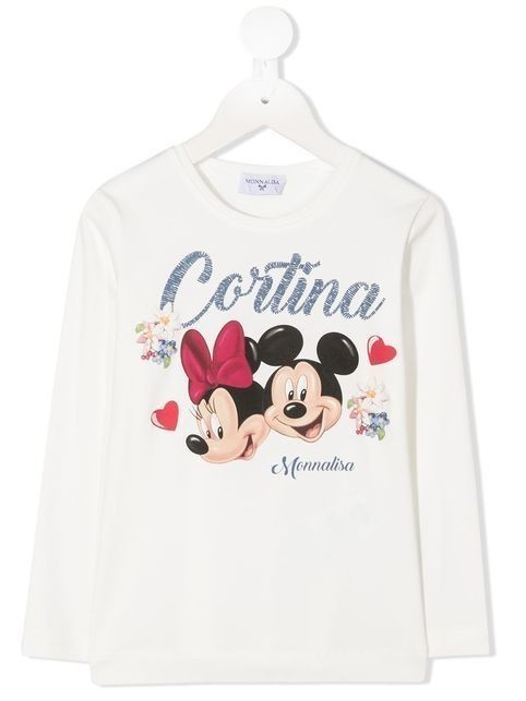 Monnalisa Cortina long-sleeved T-shirt - Neutrals