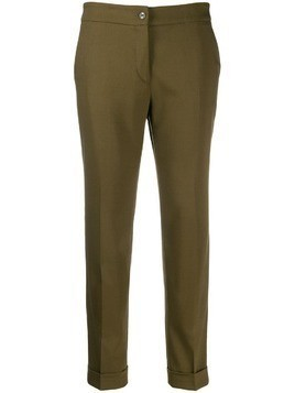 Etro cropped trousers - Green