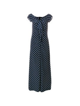 Moschino Vintage polka dots long dress - Blue