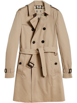 Burberry - The Chelsea – Long Trench Coat - Herren - Cotton/Viscose - 48 - Nude & Neutrals