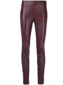 Maison Ullens textured skinny trousers - PURPLE