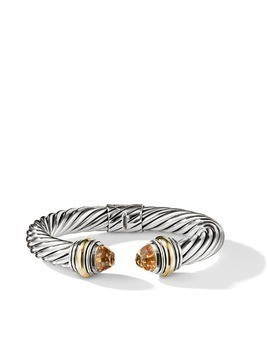 David Yurman Cable citrine and 14kt yellow gold detailed 10mm cuff - S4ACI