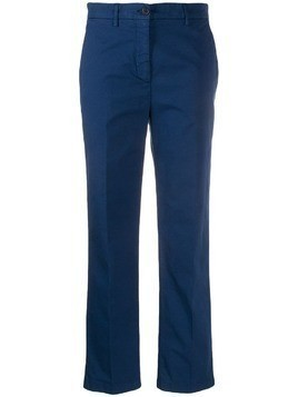 Aspesi mid rise straight trousers - Blue