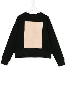 Ioana Ciolacu Kids colour block sweatshirt - Black