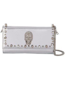 Philipp Plein Studs clutch bag - Grey