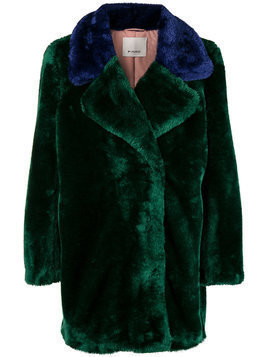 Pinko faux fur coat - Green