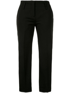 Isabel Benenato slim-fit cropped trousers - Black