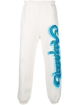 Adaptation graffiti logo track trousers - White