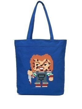Mostly Heard Rarely Seen 8-Bit Watchout tote - Blue