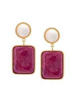 Lizzie Fortunato Jewels pearl post earrings - Pink