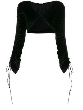 Oseree string tied bolero jacket - Black