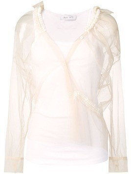Act N°1 tulle layer top - White