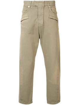 Balmain - biker fly baggy trousers - Herren - Cotton - 31 - Brown