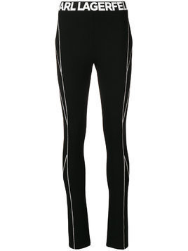 Karl Lagerfeld logo trousers - Black