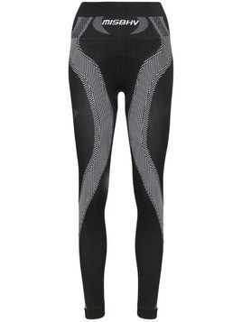 Misbhv high-waisted sport knit leggings - Black