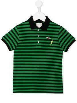 Gucci Kids striped polo shirt - Green